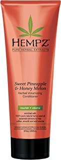 product image for Hempz Sweet Pineapple and Honey Melon Herbal Volumizing Conditioner for Color-Treated Hair, 9 oz. - Restorative, Moisturizing Conditioners to Tame Heat, Humidity, Frizz - Premium Hair Products