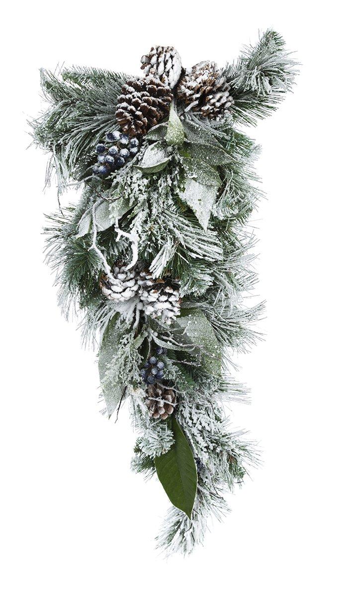 Darice Christmas Arctic Circle Mixed Pine Teardrop 32 Inches