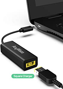ANYWATT : USB-IF Certified USB C to Lenovo Slim Tip Adapter Supports USB-PD Protocal Smart Charging for Type-C Phones Laptops