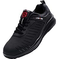 Zapatos de Seguridad Hombre Mujer, Punta de Acero Zapatos Ligero Zapatos de Trabajo Respirable Construcción Zapatos…