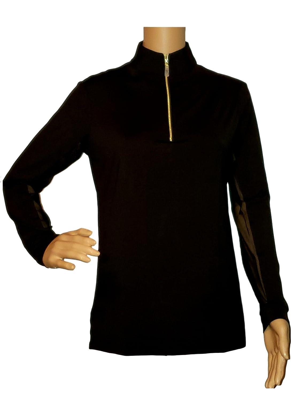 Black   gold Medium Tailored Sportsman Icefil Ziptop Shirts