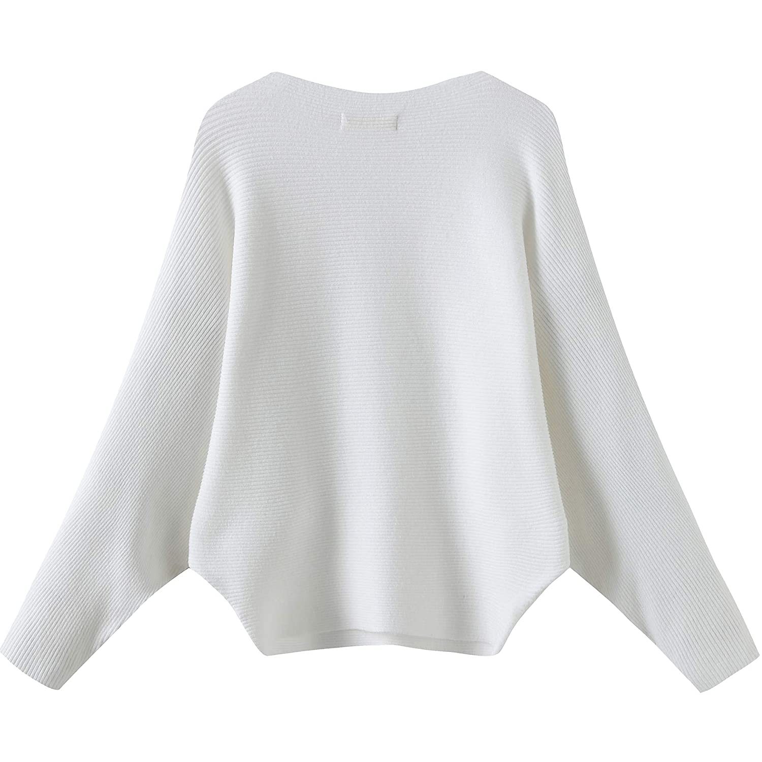 Naturally99 Women s Light Weight Long Dolman Sleeve Batwing Premium Wool  Sweater Knit Top (White) at Amazon Women s Clothing store  5ce8c93548