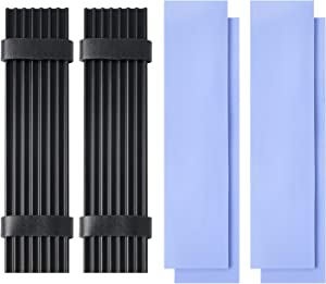 2 Pack M.2 Aluminum Heatsinks Cooler with Nano Silicone Thermal Pad for M.2 2280 SSD Laptop
