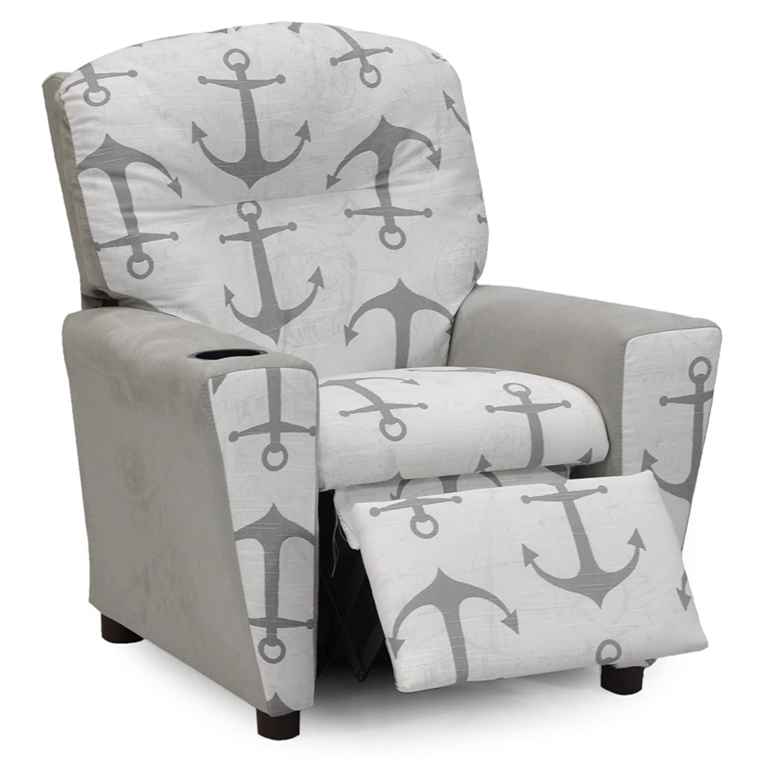 Amazon Kidz World Anchors Navy Kid s Recliner with Cup Holder