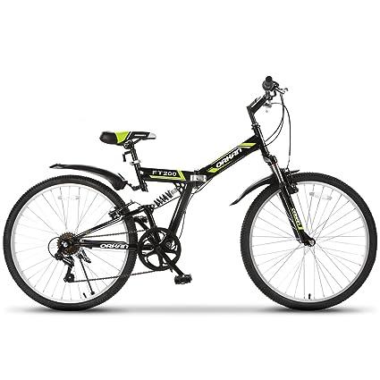 Murtisol Folding Bike 26 Mens and Womens Bike Fast Speed 7 Speed Commuter Bike