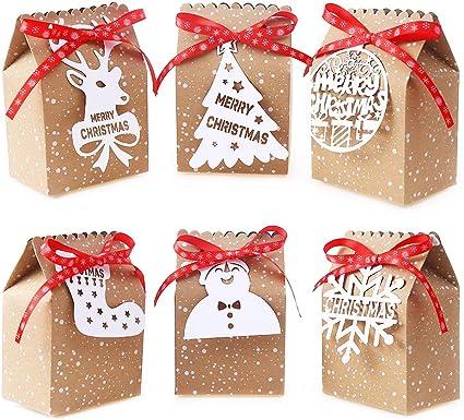 VEYLIN 24 bolsas de regalo de Navidad, suministros de fiesta, caja ...