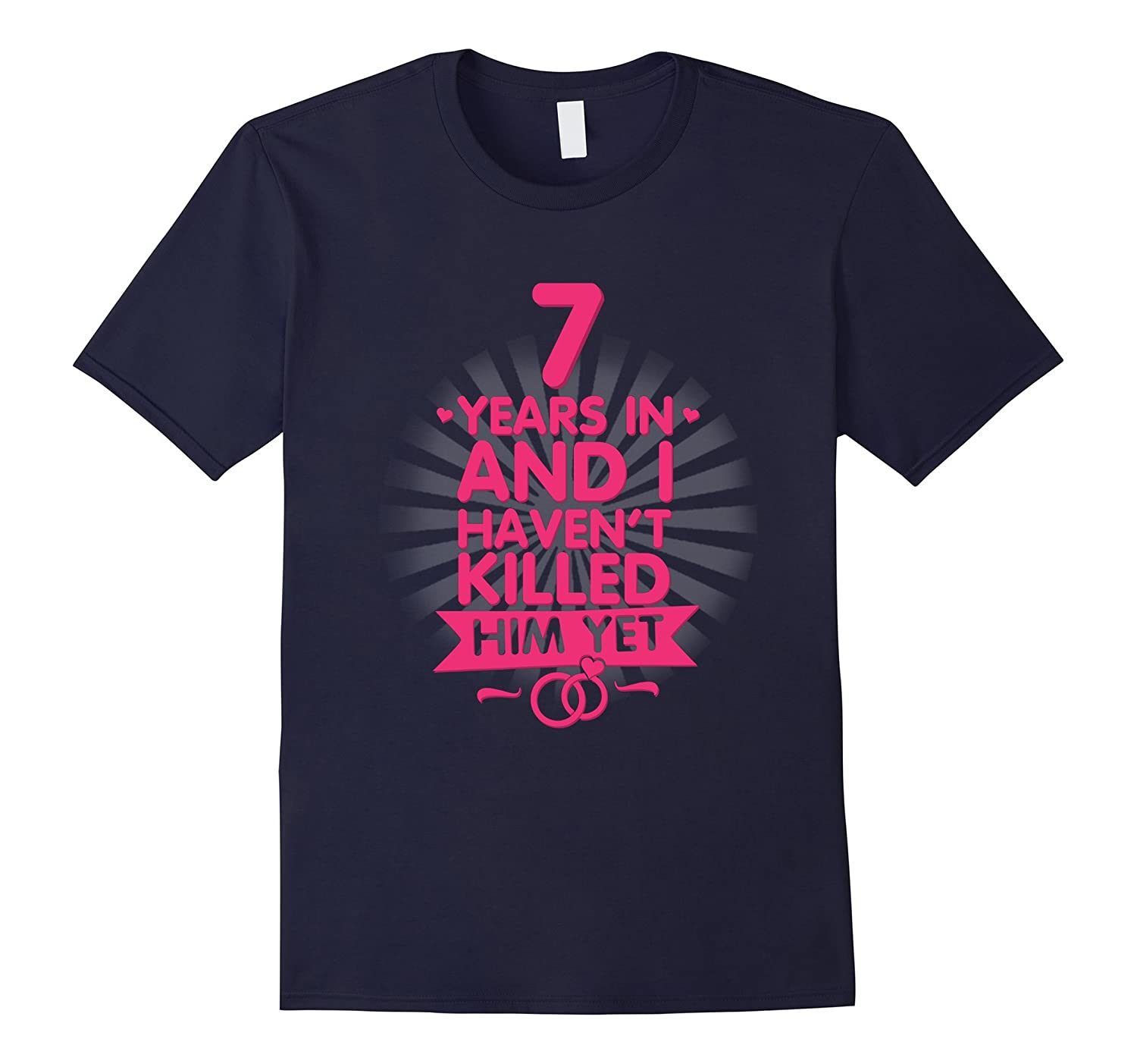 7 Years of Marriage T shirt 7th Anniversary Gift for Wife-PL – Polozatee