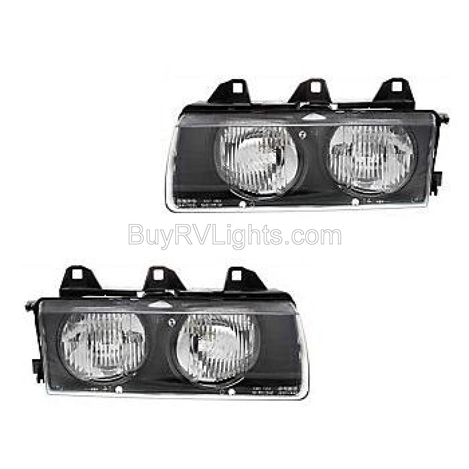 Fleetwood Expedition 2000-2005 RV Motorhome Pair Left /& Right Replacement Headlights Head Lights Front Lamps with Bulb