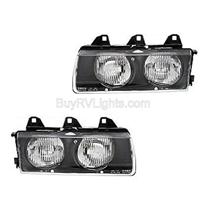 Fleetwood Expedition 2000-2005 RV Motorhome Pair (Left & Right) Replacement  Headlights Head Lights Front Lamps with Bulb