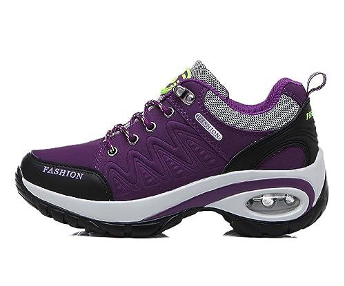 6c0bd42f0665d Huaihsu Zapatos deportivos de montaña para mujer Antideslizante Zapatos  resistentes al desgaste Senderismo Zapatillas para damas Deportivos para  correr  ...