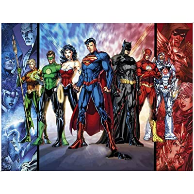 MoDi Toy Jigsaw Puzzle Justice League Batman Superman Wooden Puzzle 300/500/1000/1500 Adult Educational Toys for Children (Color : C, Size : 500tablets): Kitchen & Dining