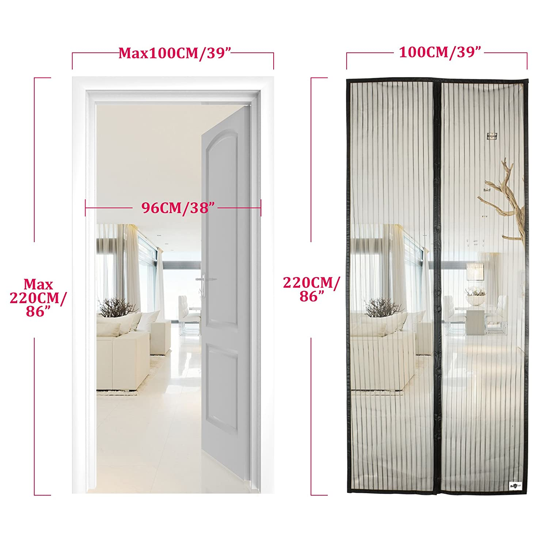 apalus magnet fliegengitter t r insektenschutz kinderleichte ebay. Black Bedroom Furniture Sets. Home Design Ideas