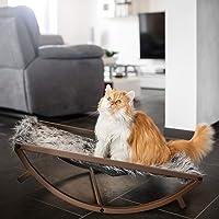 CanadianCat Company ® | Katzenbett und Wippe 65 x 46 x 17,5 cm mit kuschligem Fellimitat Liegefläche