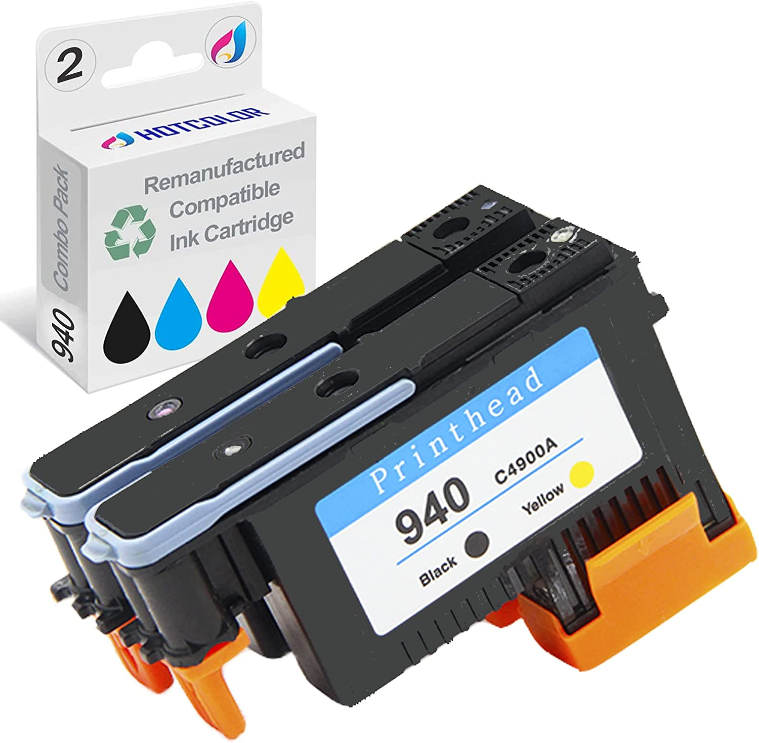 HOTCOLOR 8500a printhead Replacement for HP 940 Printhead C4900A C4901A for HP 8500a printhead Officejet pro 8000 8500 (Black/Yellow Cyan/Magenta)