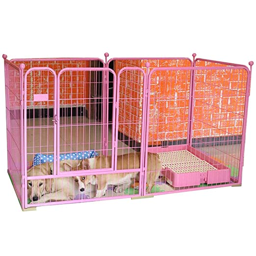 Chengxin Casetas para Perros Jaula Perro Cerca Cerca cajones del ...