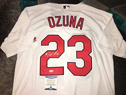 low priced 02a1a 6d411 Marcell Ozuna Autographed Signed St. Louis Cardinals Jersey ...