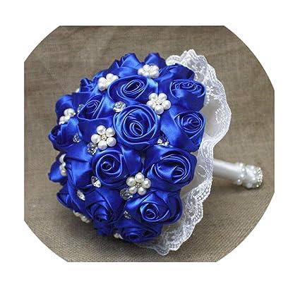 Amazon Com Wedding Flowers Wine Red Royal Blue Bridesmaid Bridal