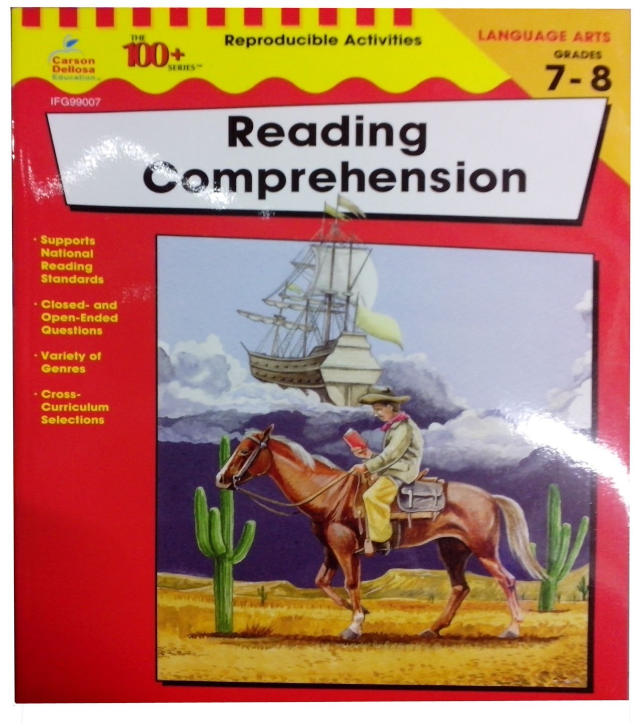 - Carson Dellosa The 100 Series: Reading Comprehension Workbook