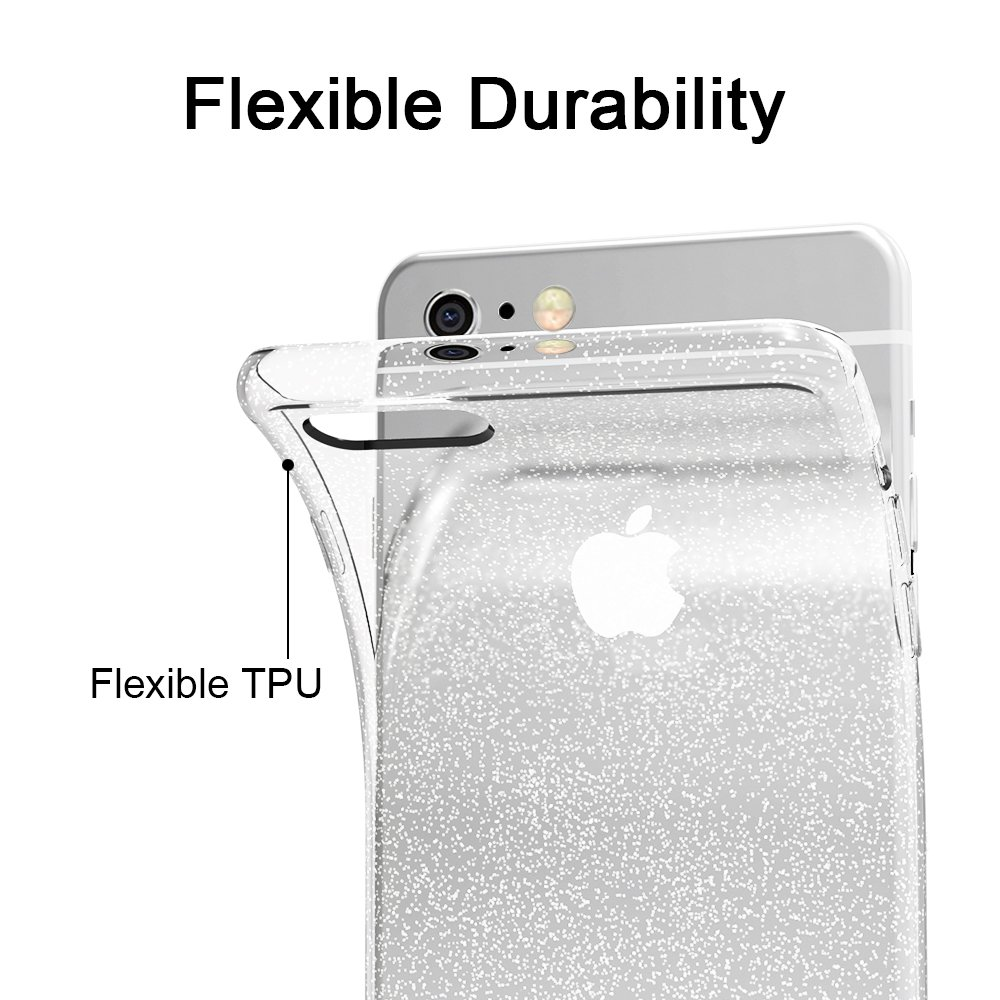 iVoler Funda Carcasa Gel Crystal Quartz para iPhone 6S Plus/iPhone 6 Plus 5.5 Pulgadas, Ultra Fina 0,33mm, Silicona TPU de Alta Resistencia y Flexibilidad: ...