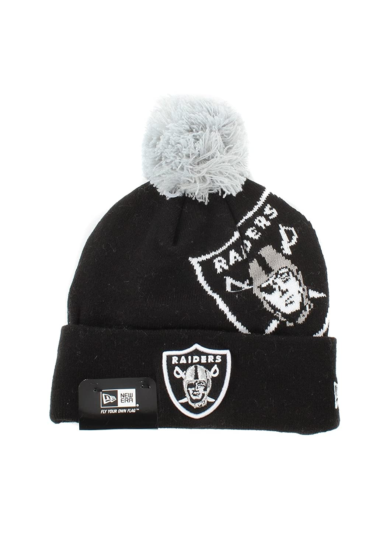 New Era Mens Oakland Raiders Logo Knit Beanie in Black - One Size  New Era   Amazon.co.uk  Clothing 035ff251e700