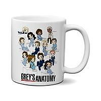 Caneca Grey's Anatomy Personagens em Cartoon