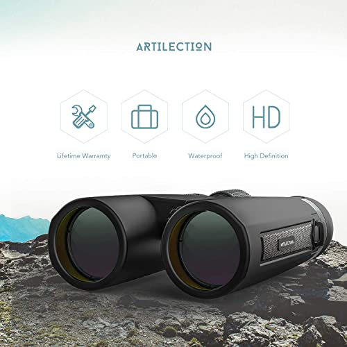 Artilection 12×42 Binoculars for Adults Hunting, Compact Binocular for Kids Bird Watching, High Power Telescope for Travel, Star Gazing and Concerts with BAK4 Prism FMC Lens