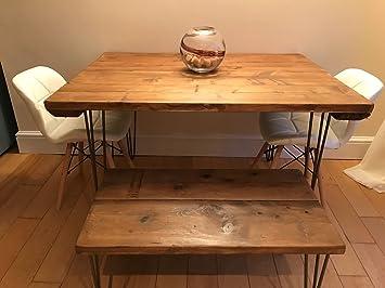 Tavolo Da Pranzo Shabby Chic : Tavolo da pranzo industriale forcina con gambe in legno riciclato