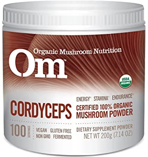 Om Organic Mushroom Nutrition Supplement, Cordyceps: Energy, Stamina, Endurance, 100 servings