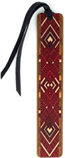 product image for Personalized Argyle (Red) Wooden Bookmark with Tassel