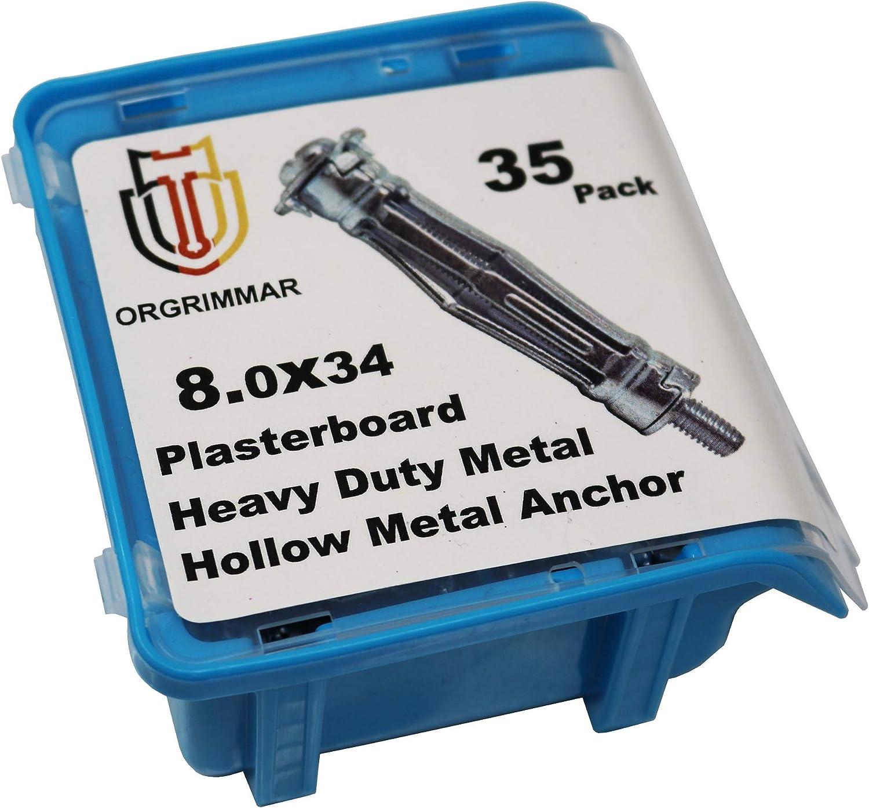 Orgrimmar Hohlraumanker Metall Hohlraumd/übel Set Hohlraum Metalld/übel Box,35 ger Pack 8x34 mm