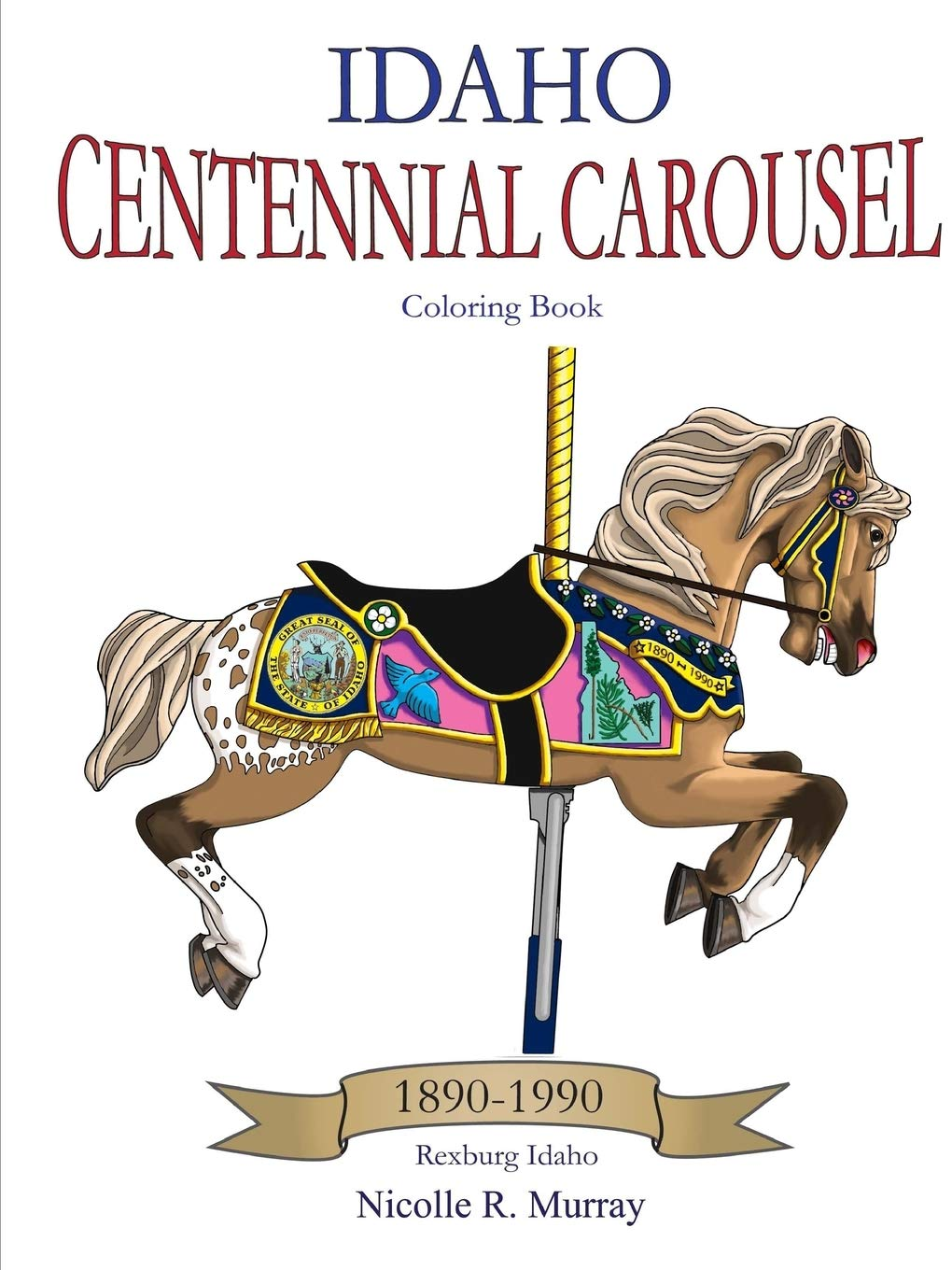13 Meticulously Rendered Carousel Coloring Pages for Boys and ... | 1360x1020
