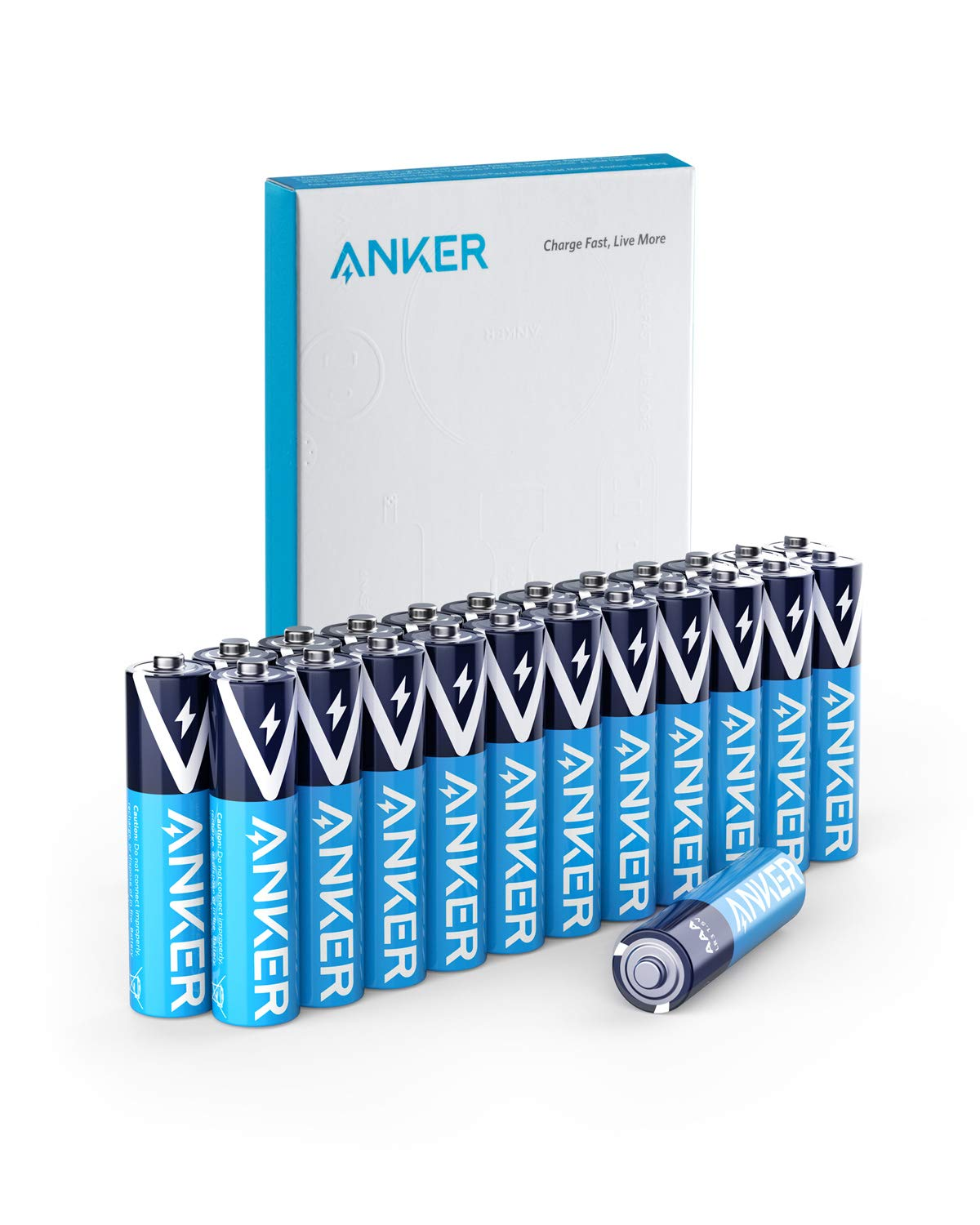 Anker Alkaline AAA Batteries, Long-Lasting & Leak-Proof with PowerLock Technology, High Capacity Triple A Batteries with Adaptive Power and Superior Safety (24-Pack)
