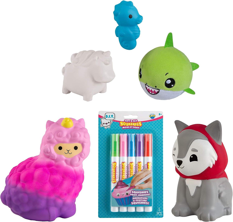 ORB Soft'n Slo Squishies Mystery Box - Cute Fidget & Sensory Toys for Boys & Girls. Best Gift for Kids!