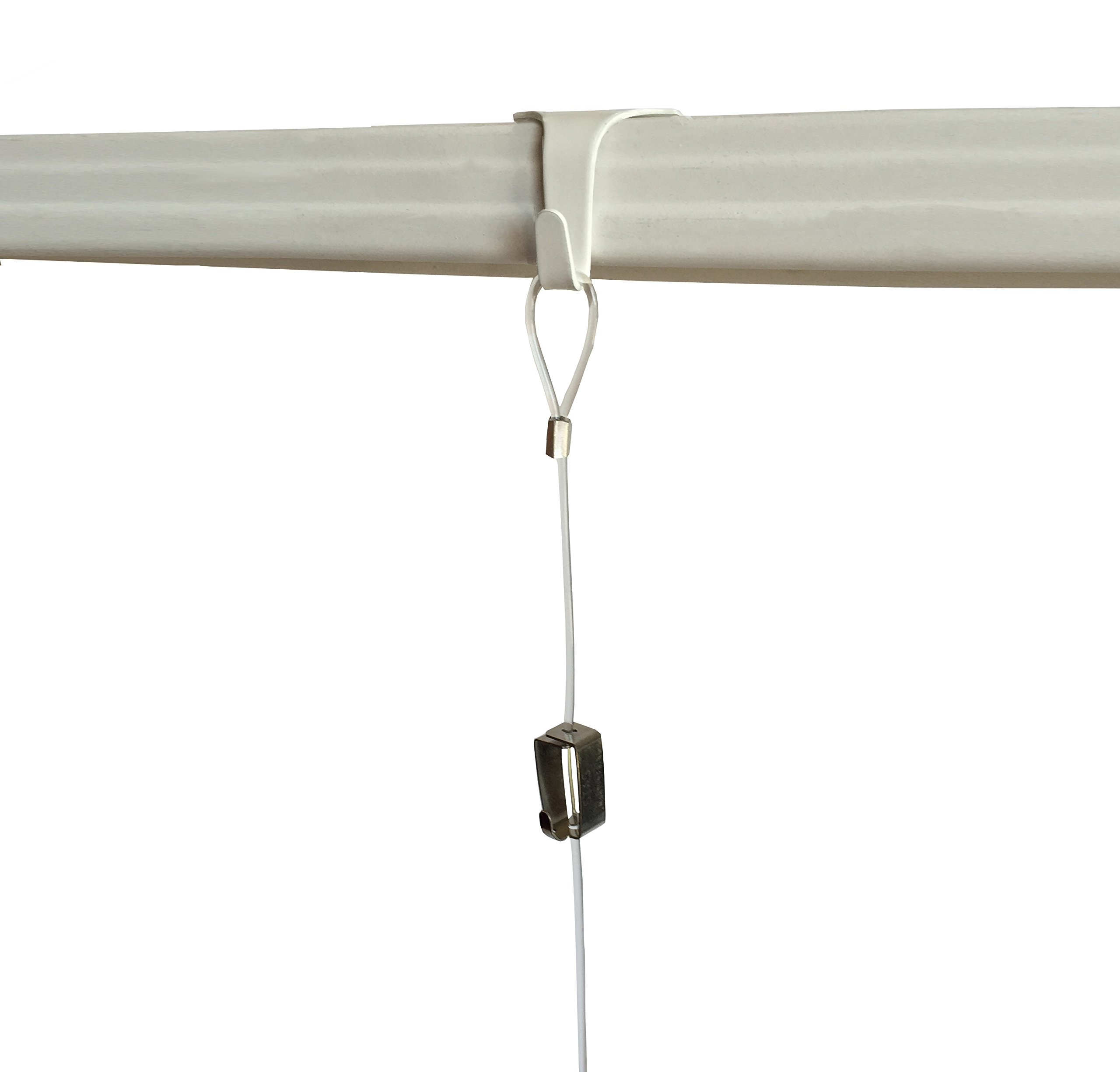 Multipack STAS Molding Hooks for picture rails (10, White)