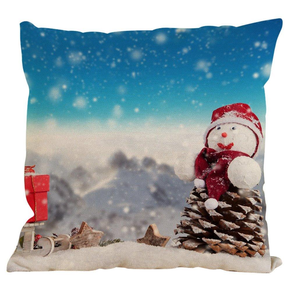 Kinlene muñeco de Nieve de Navidad de algodón Funda de ...