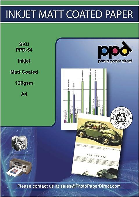 PPD-45-20 PPD A4 20 Fogli 210g Carta Fotografica Fronte-Retro Opaca Per Stampanti A Getto D/'Inchiostro Inkjet