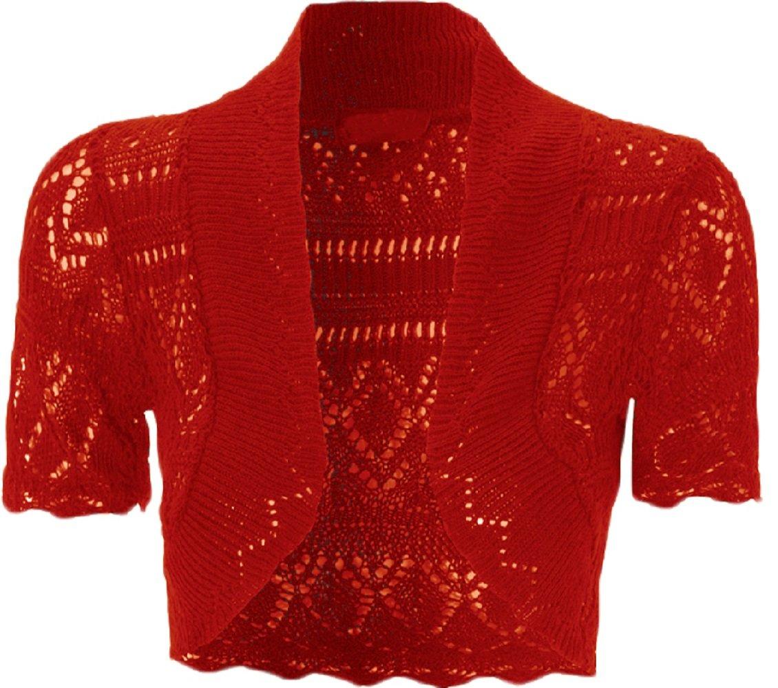 Bolero lavorato a maglia, da bambina e ragazza, a maglia, coprispalle a maniche corte, taglia 2 - 13anni taglia 2 - 13anni