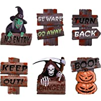 VOSAREA 6PCS Halloween Yard Signs Outdoor Lawn Decorations Pumpkin Ghost Monster Spooky Halloween Yard Signs with Stake…