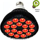 Niello 36W Deep Red 660nm LED Grow Light Bulbs, Grow Lights for Indoor Plants Flowering Bloom and Fruiting.