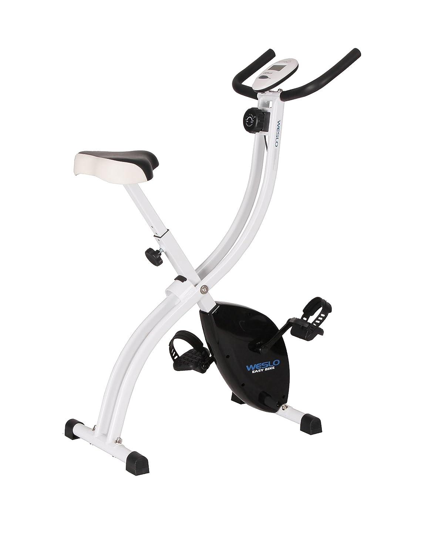 Weslo Easy Bicicleta estática Plegable Unisex, Color Blanco/Negro ...
