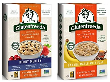 Glutenfreeda Whole Grain Gluten-Free Instant Oatmeal 2 Flavor Variety Bundle, (1) each: Berry...