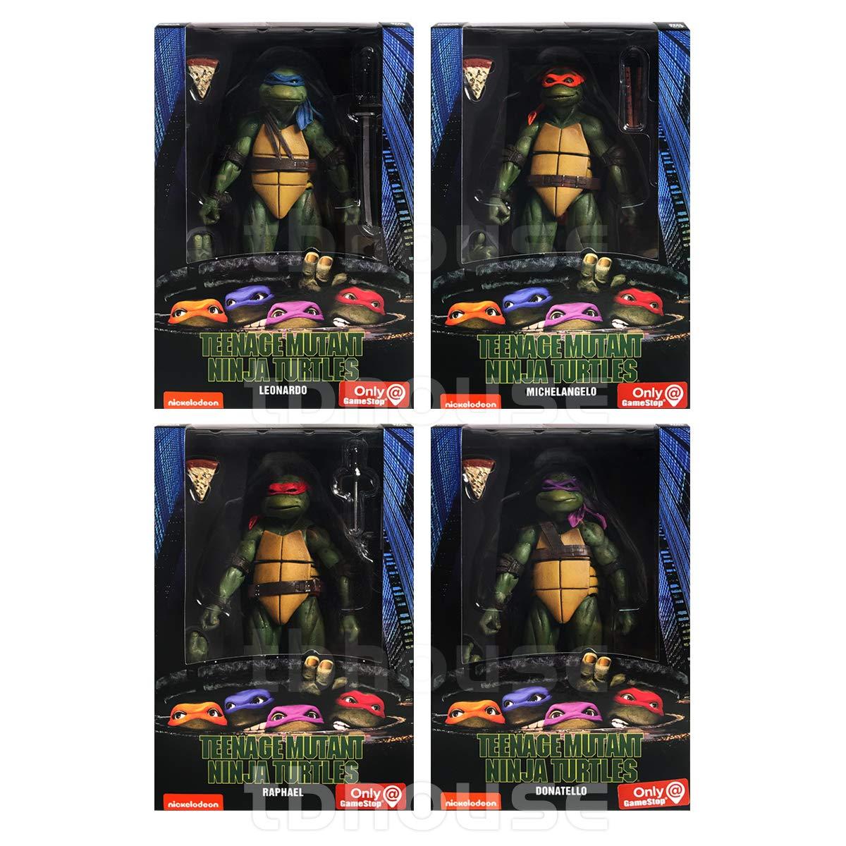 """NECA Teenage Mutant Ninja Turtles (1990 Movie) 7"""" Action Figure Set of 4"""