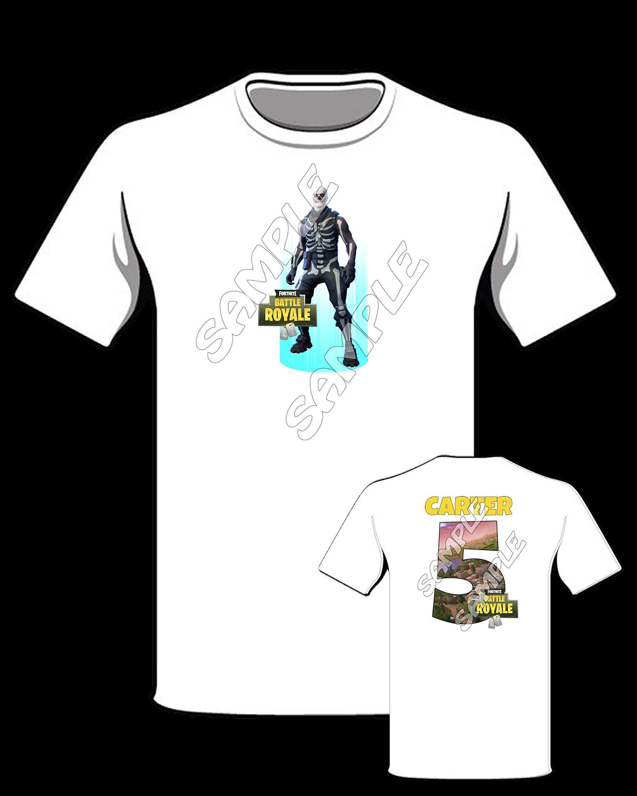 Fortnite SKULL TROOPER themed Personalized Shirt, Fortnite birthday shirt #60