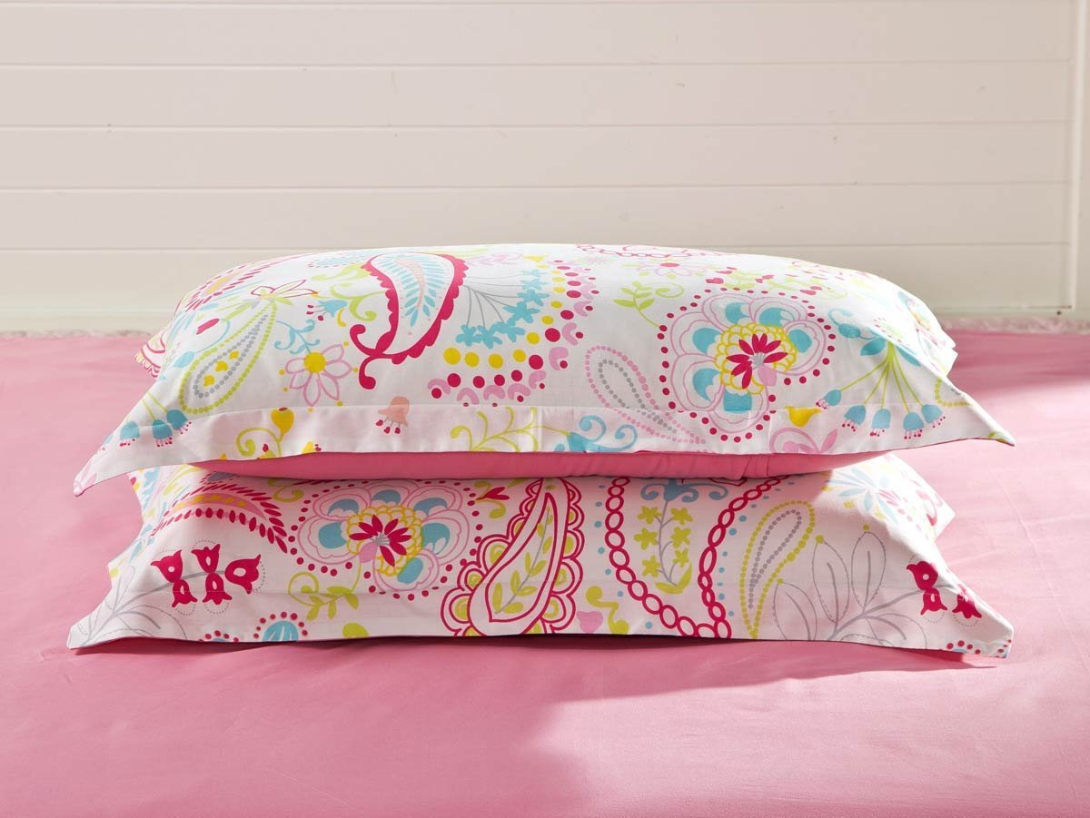 set duvet pieces com full cotton girls dp cover teens amazon cliab included fitted home for kitchen bedding teen paisley sheet pink covers