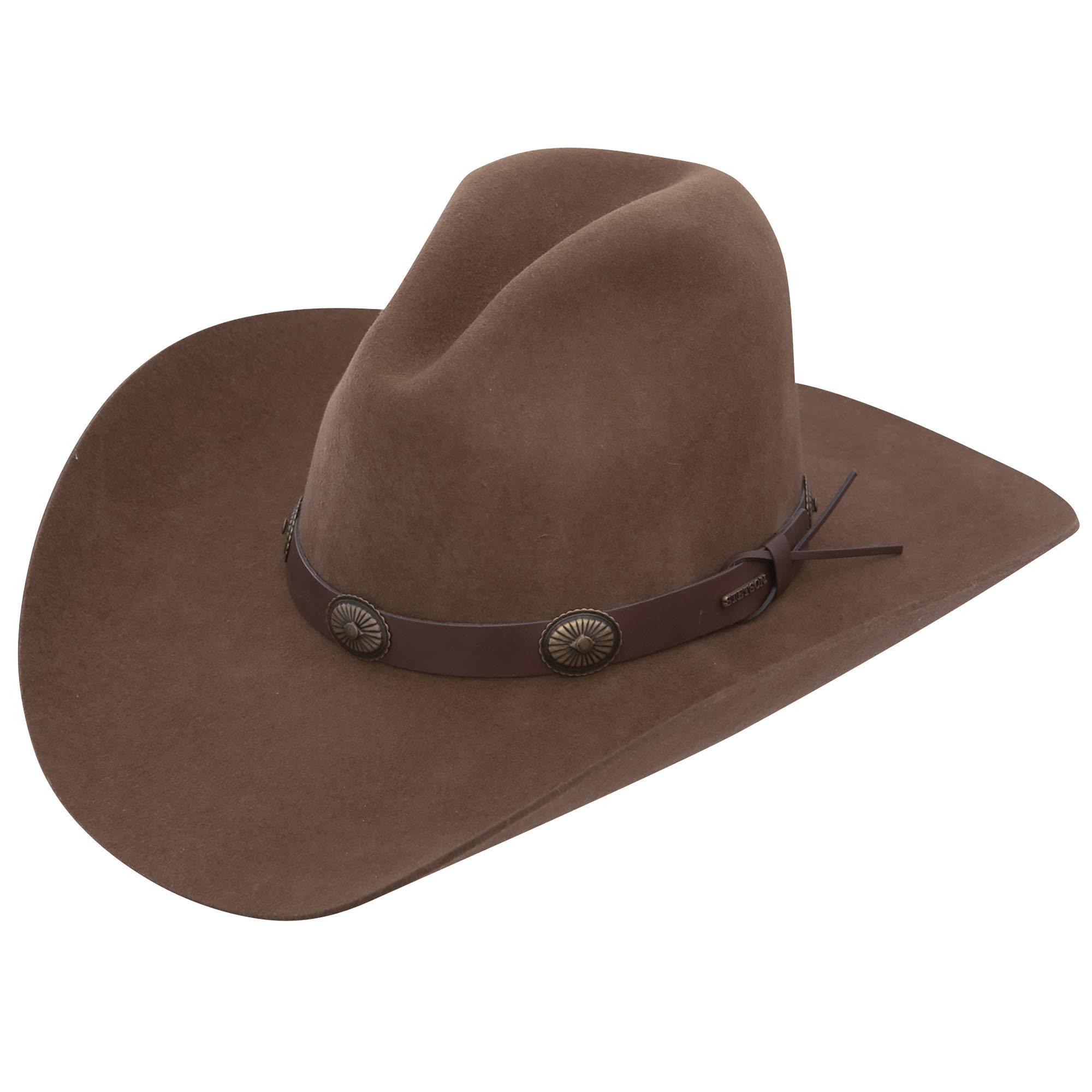 7 1/4 ''Boothill'' 2X Wool Felt Western Cowboy Hat