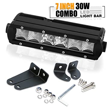 7u0026quot; 8 Inch Single Row Led Light Bar Super Slim Low Profile Flood Spot Combo  sc 1 st  Amazon.com & Amazon.com: 7