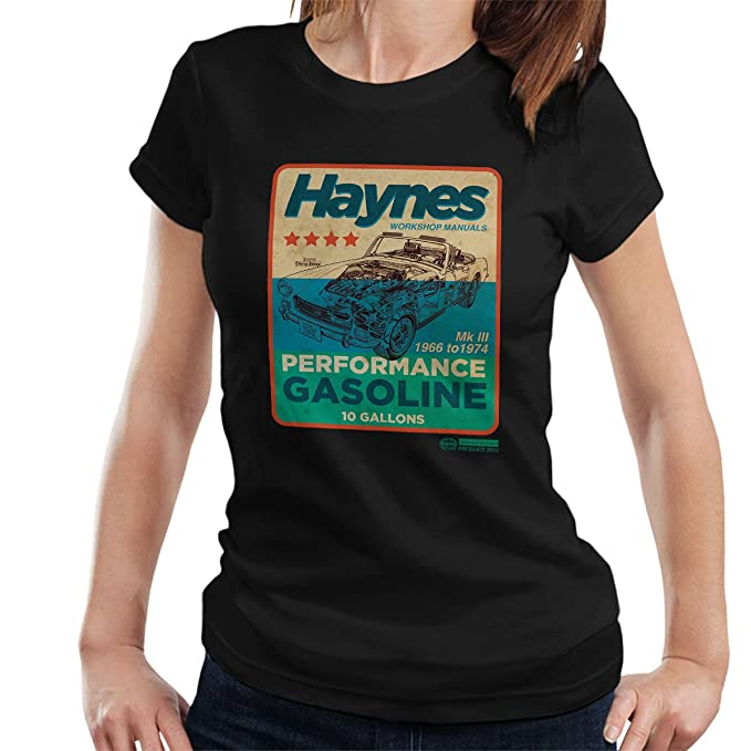 Haynes MG MGB Performance Gasoline Women's T-Shirt at Amazon