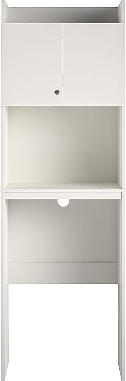 Ameriwood Home Clarkson Mini Refrigerator, White Storage Cabinet