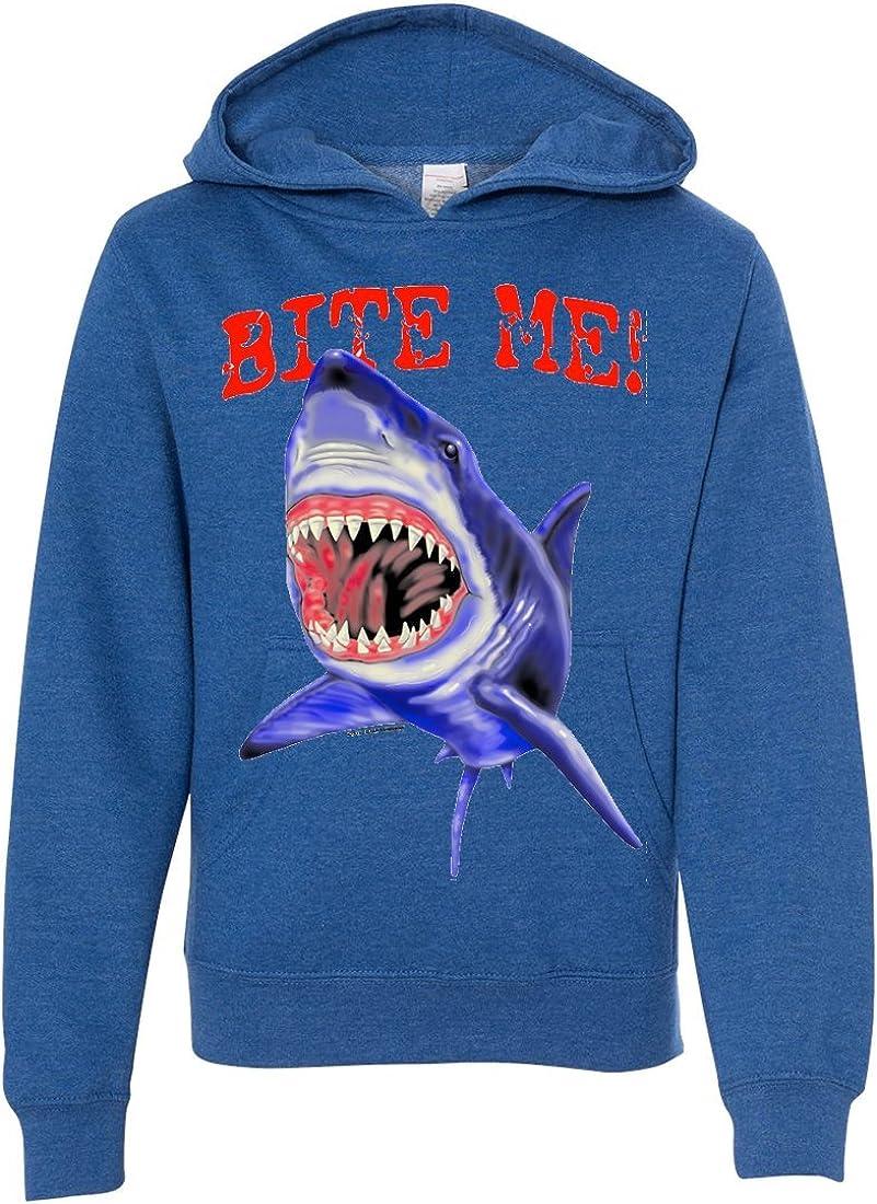 Bite Me Great White Shark Youth Sweatshirt Hoodie
