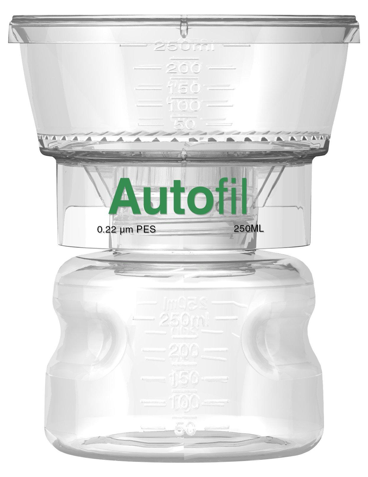 Autofil Sterile Disposable Vacuum Filter Units with 0.2um Sterilizing PES Membrane, 250mL, 12/CS by Foxx Life Sciences